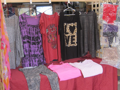 A selection of Mandi's clothes that are up for offer at  A Plus Market.