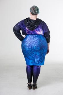 Joolz tentacle skirt and space swirl hoodie