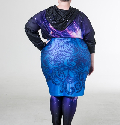 Joolz tentacle skirt and space swirl hoodie