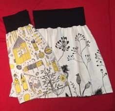 SKIRTS - Yellow & Black & B&W Flowers