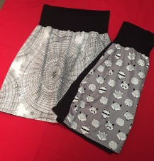 Swirls & foxes skirts