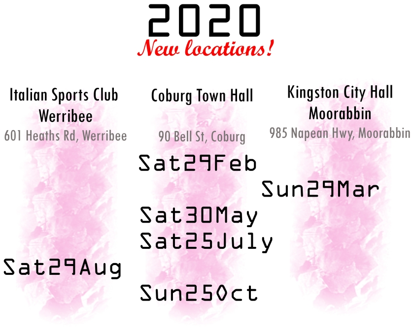 2020 updated dates web